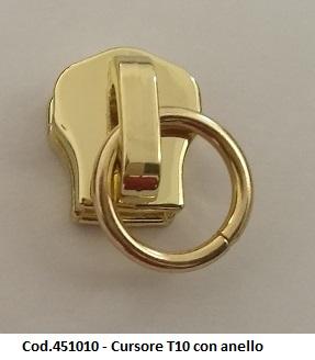 Cod.451010 - Cursore T10 con anello Image