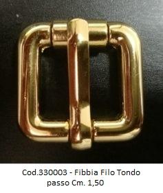 Cod.330003 - Fibbia Filo Tondo passo Cm. 1,40 Image