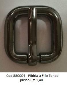 Cod.330004 - Fibbia a Filo Tondo passo Cm.1,20 Image